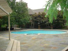 bluestone patio with lime-stone edges - Google Search