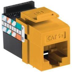Leviton Quickport Cat-5e Jack (yellow)
