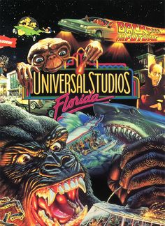 Universal Studios - these are all the rides I remember... jaws, king kong, ET, back to the future - it was so awesome!!