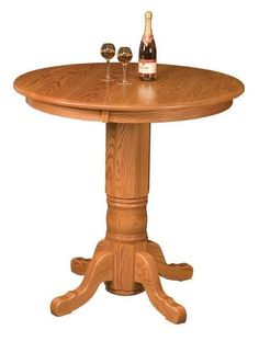 Amish San Antonio Pub Table Save space and create a cozy and festive nook with the San Antonio Pub Table. Solid wood construction. Made in America in choice of wood and stain. #pubtables #Amishfurniture