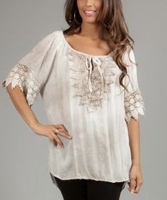 Loving this Mole Embroidered Marion Peasant Top on #zulily! #zulilyfinds