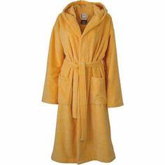 Peignoir à capuche polyester et coton - MB434 - jaune soleil Yellow Baths, Hoods, Duster Coat, Dressing, Warm, Unisex, Ms Gs, Myrtle, Jackets