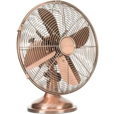 PRINCESS Retro copper table fan (€84) ❤ liked on Polyvore featuring home, home decor, fans, standing fans, fillers, decor and backgrounds