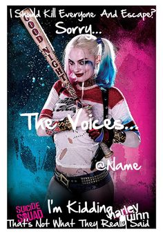 """""""Harley Quinn Open Icon-Jada"""" by aloha-tropical-iconers ❤ liked on Polyvore featuring art"""