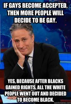 Gay rights by Jon Stewart