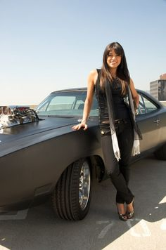 Michelle Rodriguez - with the Dodge Charger    Badass!