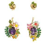 DIORETTE Earrings in yellow gold and amethyst