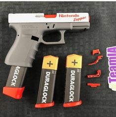 I don't always share Glock pics, but when I do, they're Nintendo Glocks. Weapons Guns, Airsoft Guns, Guns And Ammo, Zombie Weapons, Armas Airsoft, Tac Gear, Custom Guns, Cool Guns, Awesome Guns