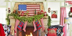 Deck the halls with these amazing Christmas decorations. From Christmas tree decor to outdoor Christmas decorations, our holiday decorating ideas will add festive flair and cheer to any home this season. Christmas Fireplace, Christmas Mantels, Christmas Home, Fireplace Mantel, Christmas Trends, Christmas Ornaments, Simple Christmas, Fireplaces, Christmas Gifts