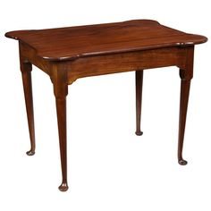 A Mahogany Porringer Tea Table, Queen Anne, Newport, This model of mahogany table with the porringer top is probably the most sought after of tea tables, particularly among those made in Newport. Colonial Furniture, Primitive Furniture, Antique Furniture, Modern Furniture, Tavern And Table, Primitive Living Room, Rectangle Table, Sofa Tables, Tea Service