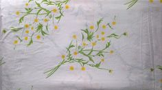 Vera Collection by Burlington No Iron Percale Daisy Print Double Full Size Flat Bed Sheet