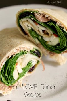 "Fall ""LOVE"" Tuna Wraps -- So Yummy and tastes like fall!! #OceanNaturals #shop #cbias {www.maybeiwill.com}"