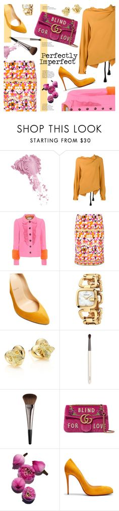 """""""Perfectly Imperfect"""" by sara-cdth ❤ liked on Polyvore featuring Bésame, Roland Mouret, Gucci, Emilio Pucci, Christian Louboutin, Chantecaille and Urban Decay"""