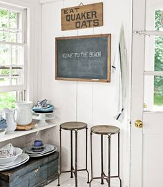 Home Built From a Ship - Decorating with Antiques - Country Living - kitchen corner