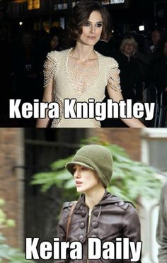 Keira Knightley  30 Hilarious Celebrity Puns • Page 4 of 5 • BoredBug