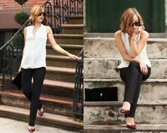 Investment #3: THE PERFECT BLACK PANTS: Much like the wear-anywhere dress, these are much harder to find than you might imagine. The goal is to find a pair that are as comfortable as sweatpants, as easy to wear as blue jeans, and yet structured and tailored and crisp andchic. That's a lot to ask of one piece of clothing!
