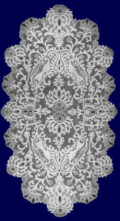 Halas Lace-Hungarian Halas lace was first made in in Kiskunhalas, Hungary. A distinctive feature of Halas lace is the darning stitch which is worked in the solid design areas to give the effect of finely woven cloth.