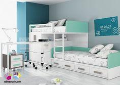 dormitorio con Camas tipo Tren Armario