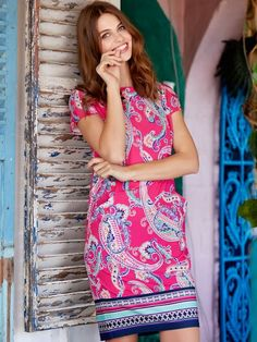 Paisley Print Border Tunic Dress | Women's Dresses With Sleeves | M&Co.