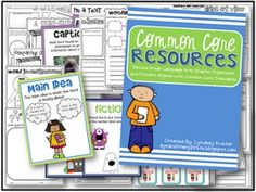 Second Grade Common Core Graphic Organizers and Posters