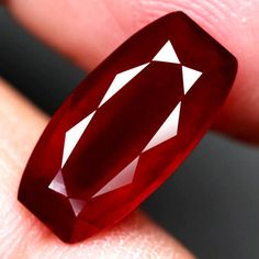 5.58CT.MAGNIFICENT! FANCY FACET TOP BLOOD RED NATURAL RUBY MADAGASCAR #GEMNATURAL