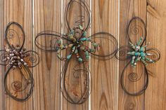 Bailing Wire Crosses - must figure out how to make these - love it