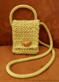 Knitted iPhone Case Pattern, Phone Case Pattern, Knitted Neck Bag Pattern. $5.00, via Etsy.
