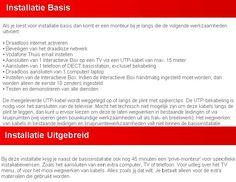 Het overzicht van de basis en uitgebreide installatie van uw Vodafone abonnement.