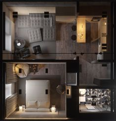 Small Apartment Interior, Small Apartment Design, Apartment Layout, Small House Design, Small Apartments, Sims House Plans, House Layout Plans, Small House Plans, House Floor Plans