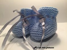 Children and Young Baby Booties Knitting Pattern, Knitted Booties, Knit Shoes, Baby Knitting Patterns, Crochet Baby, Knit Crochet, Bunny Slippers, Bebe Baby, Cross Stitch Baby