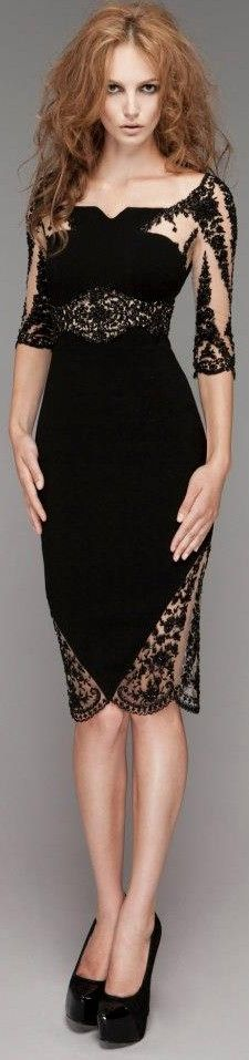 The LBD - We love the LBD – so chic and makes us channel our inner Audrey H. You can't go wrong really – go for a style that suits your shape and don't be scared of lace and sheer panels. Bare legs and black heels finish the look.