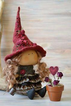 Poco bruja Tina-cocina bruja-regalo hecho por BroderieLittleCorner