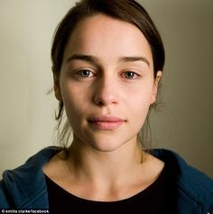 Emilia Clarke without makeup. She looks so normal and it makes me happy. :)