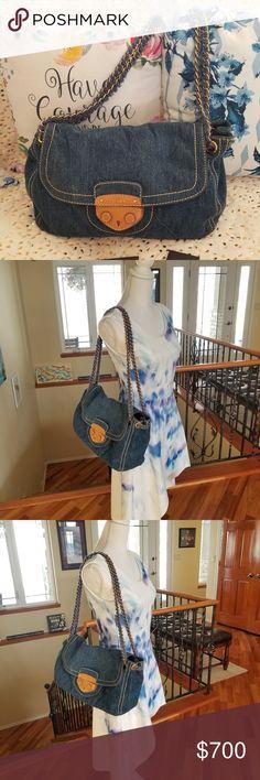 f8c5b791b7ee Authentic Prada denim shoulder bag... Gorgeous authentic prada denim bag.