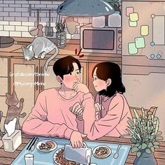 Crazy love with you ❤ Read these moving romance stories on Cute Couple Drawings, Cute Couple Art, Anime Love Couple, Cute Anime Couples, Cute Drawings, Aesthetic Anime, Aesthetic Art, Couple Illustration, Illustration Art
