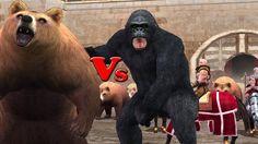 Gorilla Vs Bear 3d Animation Short Movie   Animals Epic Battle   Full Mo...