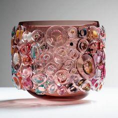 Sabine Lintzen Art-Glass Sculptural Vessel💗Fantastic!💗