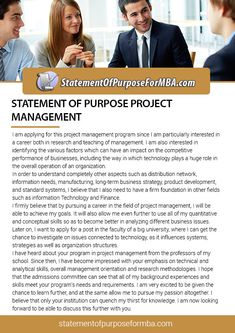 Are you still confused with the writing a statement of purpose project management? Our project management stuff can help you. You can follow our sop at http://www.statementofpurposeformba.com/our-sop-for-mba-writing-service/statement-of-purpose-for-project-management-writing-service/