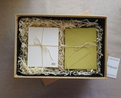 letterpress stationery packaging