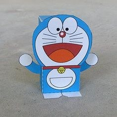 Toy-A-Day: Day 48: Doraemon - Paper Toy - free printable