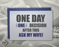 Funny groomsmen card will you be my groomsman best by PicmatCards