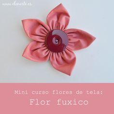 Mini curso flores de tela: Flor fuxico