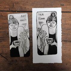 Grabar un personaje en Tetra Pak ® y estamparlo en papel Tetra Pak, Gelli Printing, Stamp Printing, Linocut Prints, Art Prints, Drypoint Etching, Eraser Stamp, Canson, Tea Art