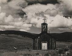 "Church at ""E"" Town, New Mexico / Edward Weston"