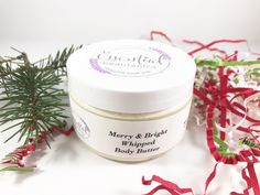 Merry And Bright Lotion | Whipped Shea Butter | Frankincense Body Lotion | Natural Body Lotion | Christmas Body Butter | Organic Body Butter
