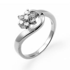 Sterling Silver Snowflake Cubic Zirconia Ring  Size 8 >>> Read more  at the image link.