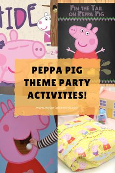 7 fun Peppa Pig party games and activities for a Peppa Pig theme kids birthday party Peppa Pig Party Games, Toddler Party Games, First Birthday Party Themes, 4th Birthday, Peppa Pig Birthday Cake, Party Activities, First Birthdays, Birthday Surprises, Television Set