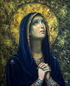 Our Lady of Sorrows by Tahnja Wolter as seen on the Divine Mercy Chaplet on the DMR Rosary www.divinemercyrosary.com