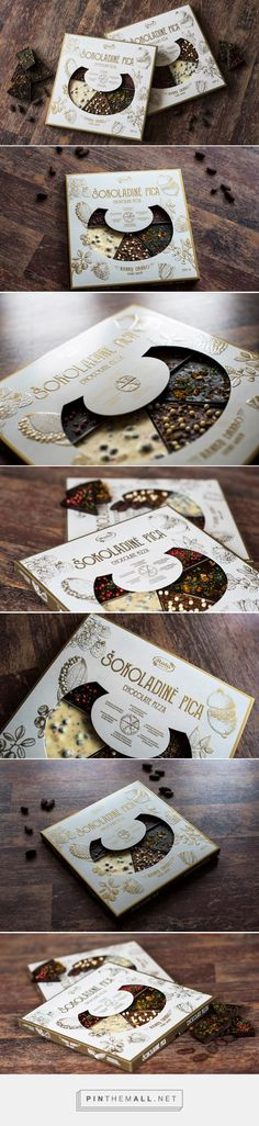 Rūta Chocolate Pizza - Packaging of the World - Creative Package Design Gallery - http://www.packagingoftheworld.com/2016/10/ruta-chocolate-pizza.html