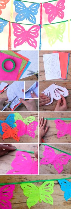 Butterfly Mariposa Papel picado templates and tutorial by Happythought!